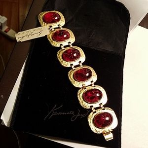 Kenneth Jay Lane couture coll Red and Gold